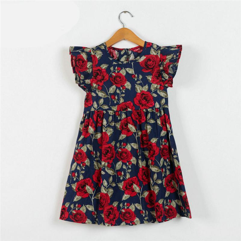 6aca399ee4c4a Kids Dress Baby Girl Dress 2018 Summer Cotton Dresses for Kids Clothing  Baby Girl Clothes Children Vintage Flower Beach Skirts