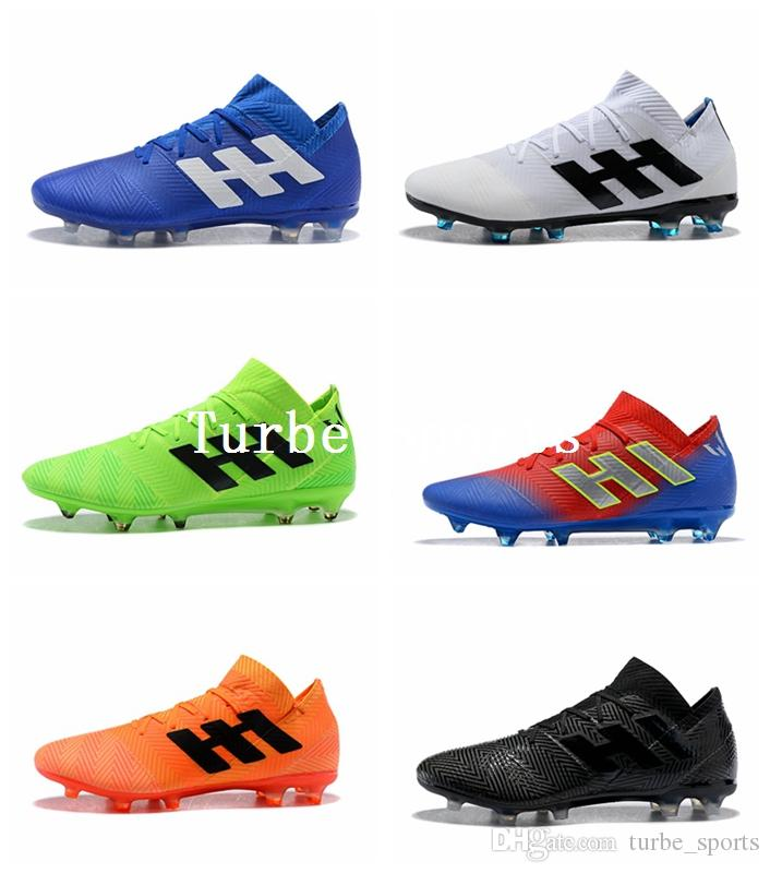 innovative design 6b00d 8487b Compre Copa Mundial 2018 Nemeziz Messi 18.1 18.3 FG Tango Zapatos De Fútbol  Para Hombre Zapatos Chaussures Crampones De Fútbol Botas Scarpe Da Calcio A  ...