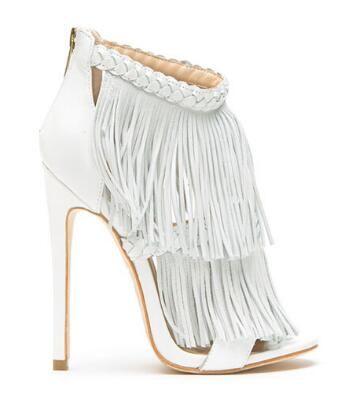 2018 venda Quente moda abriu toe tassel mulheres sandália botas de camurça capa ankle boots mulheres bombas de salto stiletto partido sapatos de salto alto