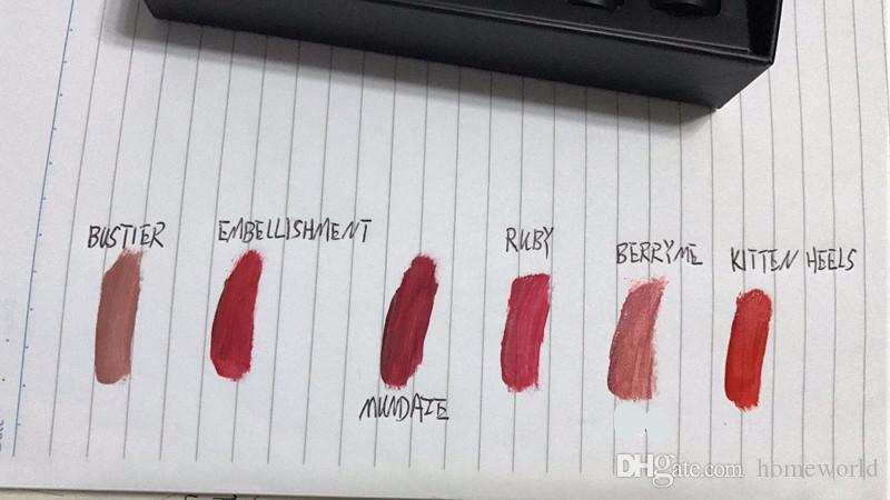 2018 Мода макияж Никс губы белье блеск для губ набор 6 шт. Жидкий матовый крем для губ помада Никс очаровательный длительный блеск для губ
