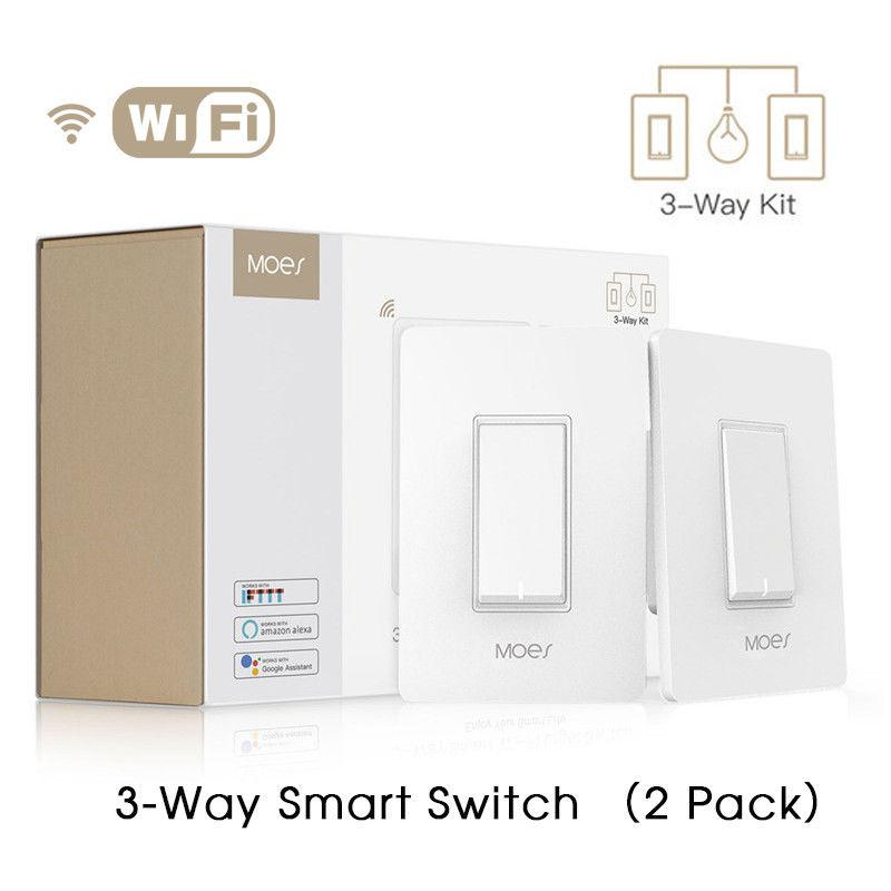 e1a7d7510a8 2019 3 Way WiFi Smart Light Switch Light Fan Control APP Remote Control  Works With Alexa And Google Home