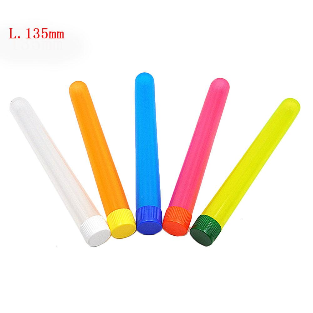 Venta al por mayor Fumar Doob Tubes Mezclar Color Cigarette Conector Conos Packaging Tube Vial Caja impermeable