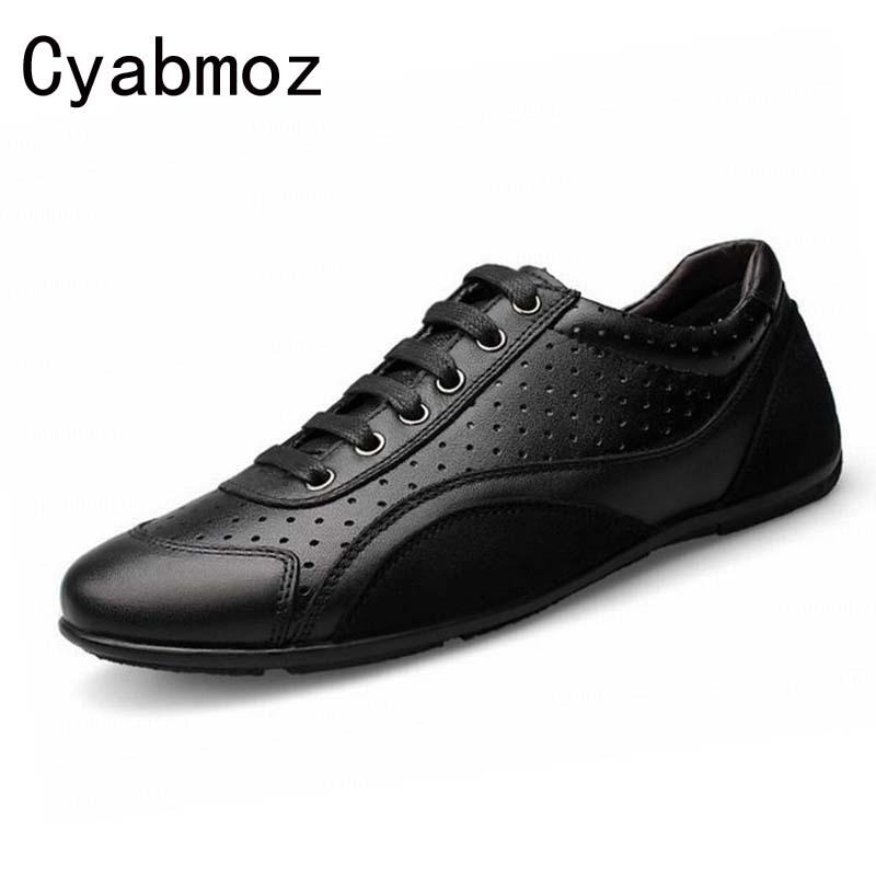 58f4d6c6e Genuine Leather Men Casual Shoes Male New Fashion Breathable Flat ...