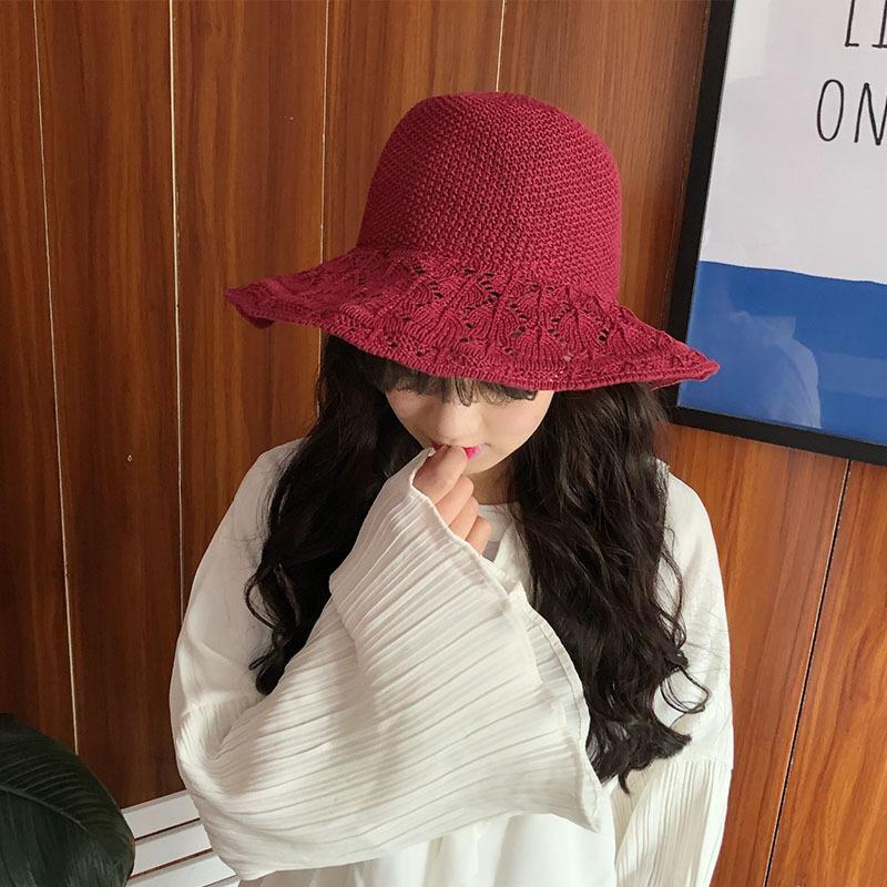 Compre HT1542 2018 Nueva Marca Mujeres Sombreros Sombreros De Pesca De  Punto Sólido Ocasional De Las Señoras De Ala Ancha Cubo Primavera Femenina  Panamá ... d8f111b4e4f