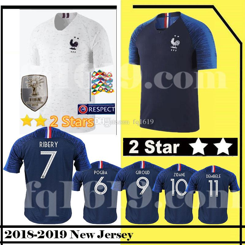 c92d58494bf 2 Star 7 GRIEZMANN 6 POGBA 2018 World Cup Soccer Jersey 10 MBAPPE 13 ...