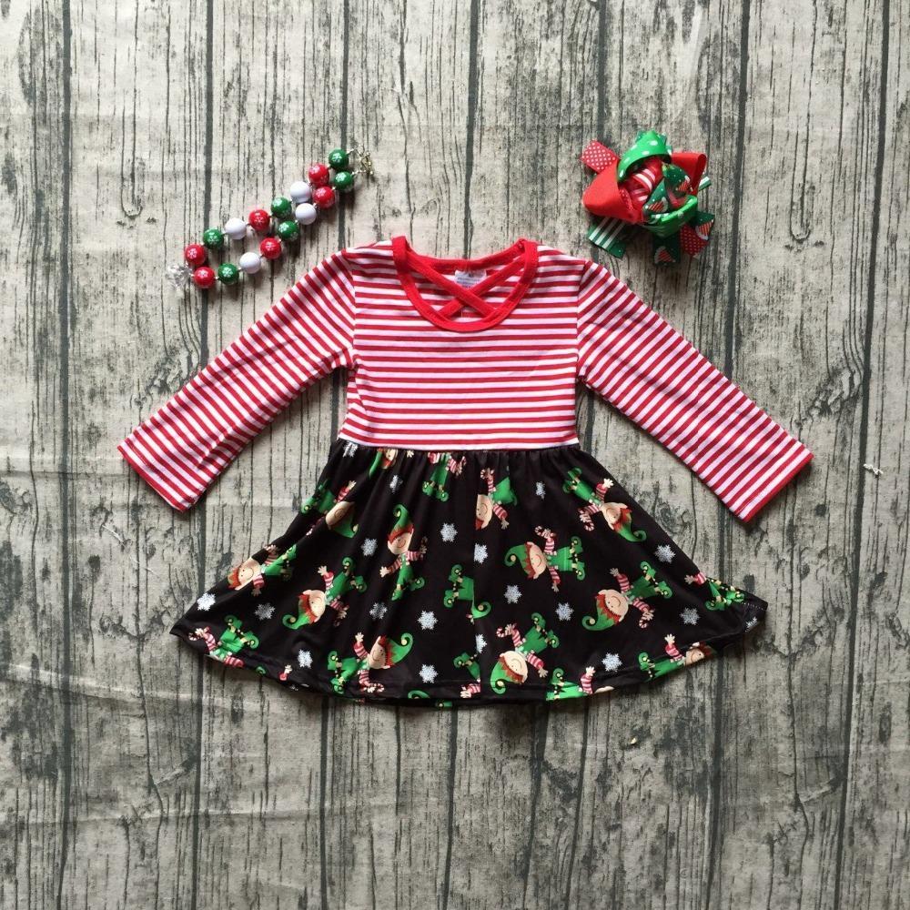 abe39baf2ed8 2019 Christmas Elf Winter Stripe Snowflake Milk Silk Cotton Baby ...