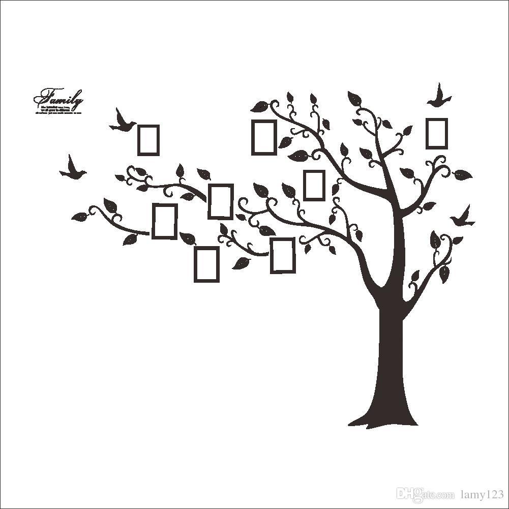 acheter gros arbre de la vie stickers muraux avec cadre photo fond d 39 cran pour la d coration de. Black Bedroom Furniture Sets. Home Design Ideas
