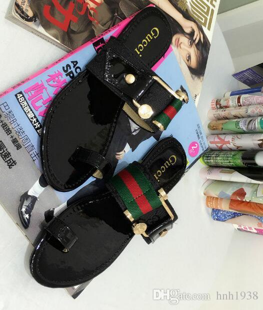 60c9d90c4 Gbrand Wonen Sandals Toe Slippers Womens Flip-flops Fashion Outdoor Beach  Causal Slide Sandals Women Leather Flat Slippers Size 35-42 Women Flip-flops  ...