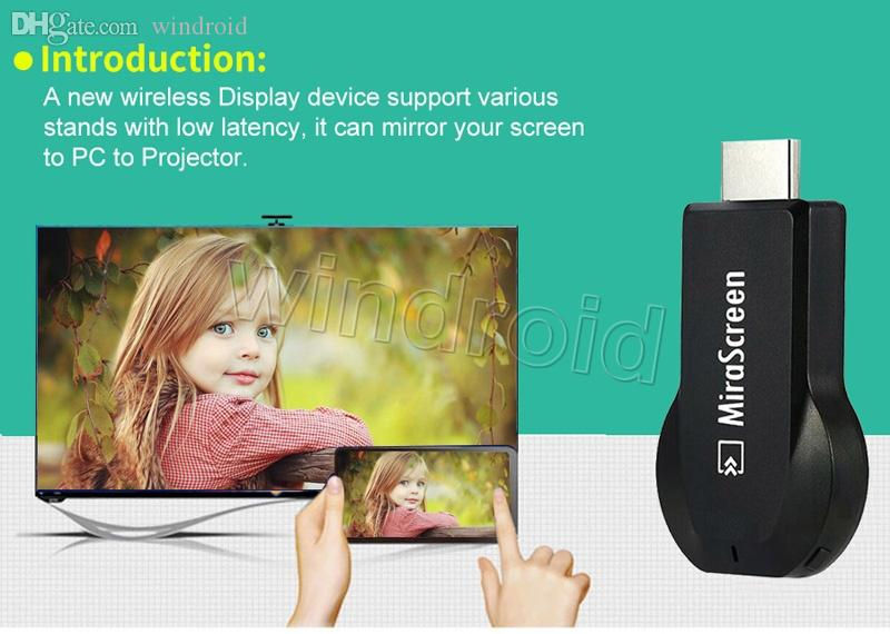New Mirescreen Mirascreen MX wireless Display dongle HDMI Media Video Streamer TV Stick mirror your screen to PC to projector Airplay DLNA