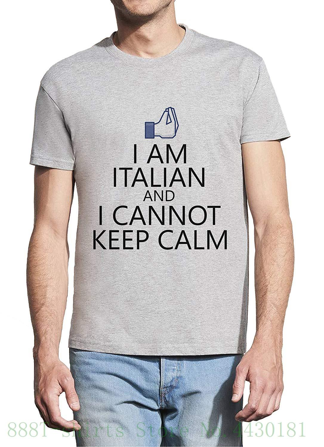 1d77a62af I Am Italian And I Cannot Keep Calm Homme White T Shirt 2018 New Short  Sleeve Men Collared T Shirts Funky Tshirts From Aaa888teesstore, $24.2|  DHgate.Com