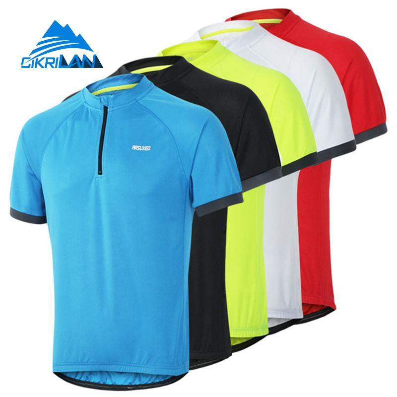 742d2e981 2019 Summer Mens 1 4 Zip Pullover Outdoor Sports Cycling Hiking Short  Sleeve T Shirt Men Camping Climbing Running Quick Dry T Shirt From Jaokui