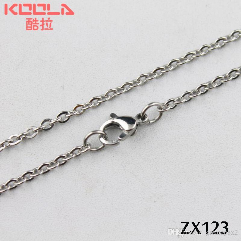 고품질 스테인레스 스틸 / O - 모양의 펜던트 쥬얼리 체인 여성 목걸이 판매 촉진 2.4mm ZX123