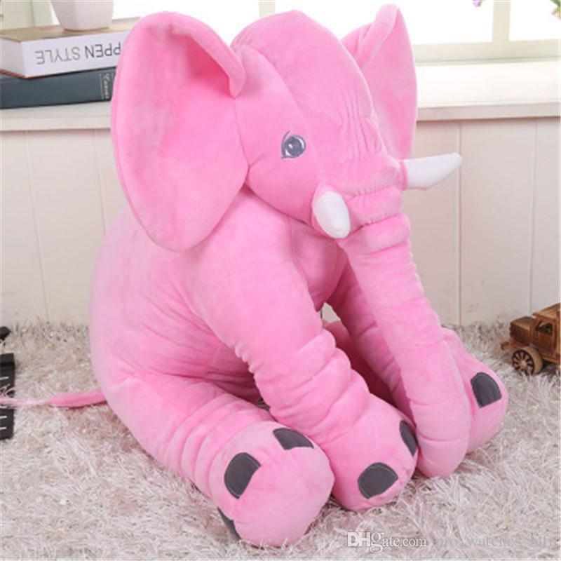60 cm Bonito Novo Colorido Gigante Elefante De Pelúcia Animal De Pelúcia Bonito Animal de Brinquedo De Pelúcia Travesseiro Do Bebê Brinquedos Em Casa Caçoa o Presente P0013
