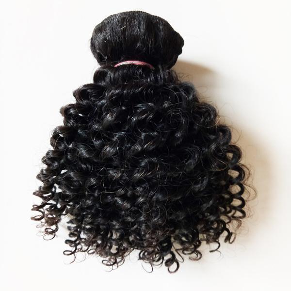 Malaisien vierge brésilienne humaine Kinky cheveux bouclés tisse Short Style 8-12 pouces sexy meilleure qualité européenne indien remy cheveux trame 300g /