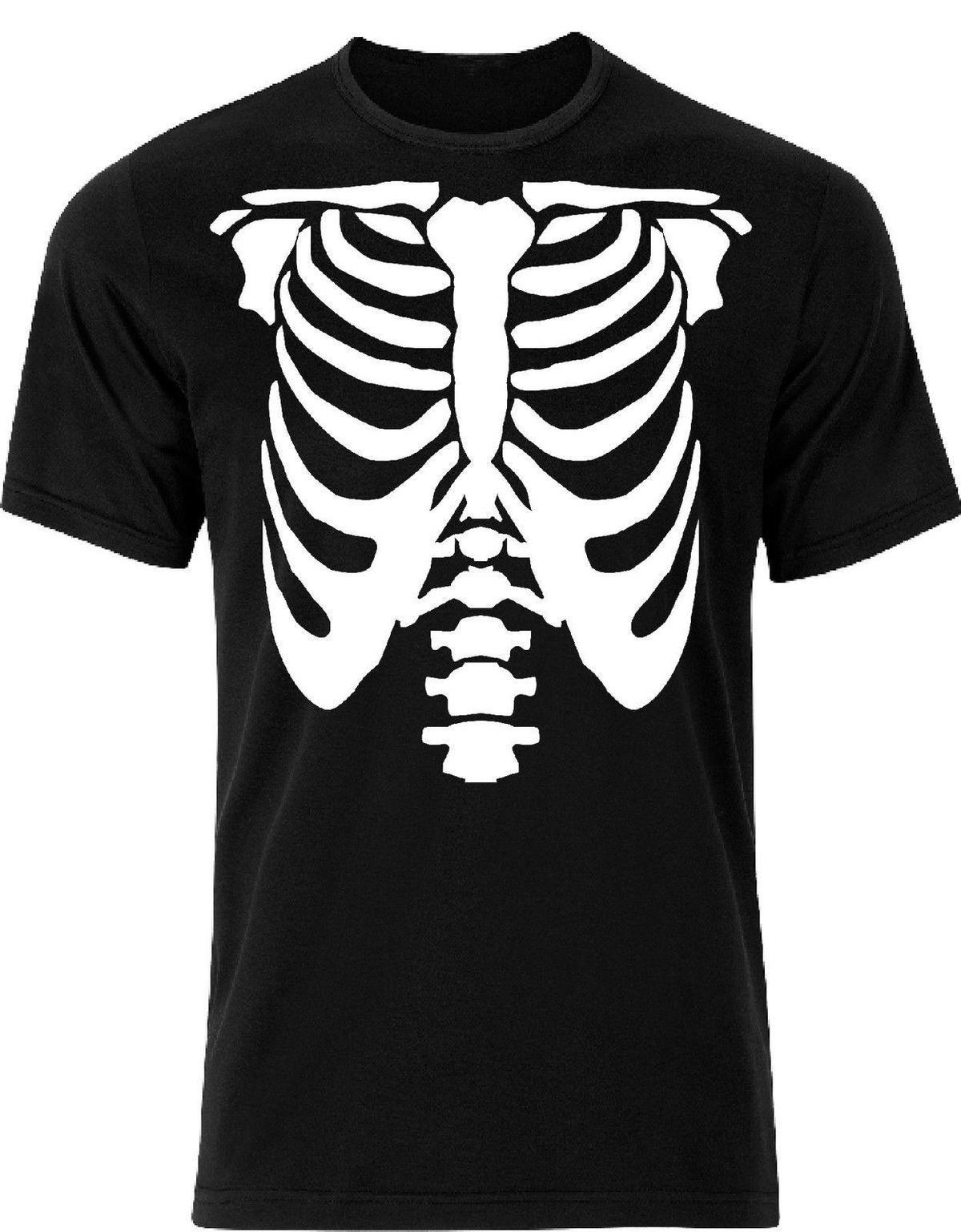 72fa4117 Skeleton T Shirts Jumpers Halloween Black White Ribs Happy Halloween AI23  Mens 2018 Fashion Brand T Shirt O Neck 100%cotton Cool Tee Shirt Designs  Buy Cool ...