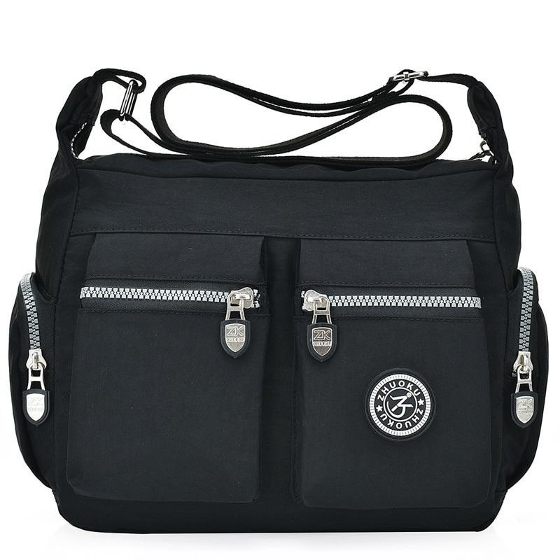 7a0c7738eb2 2019 Fashion Waterproof Nylon Women Messenger Bags Casual Clutch Carteira  Vintage Hobos Ladies Handbag Female Crossbody Bags Shoulder Bags Women  Handbags ...