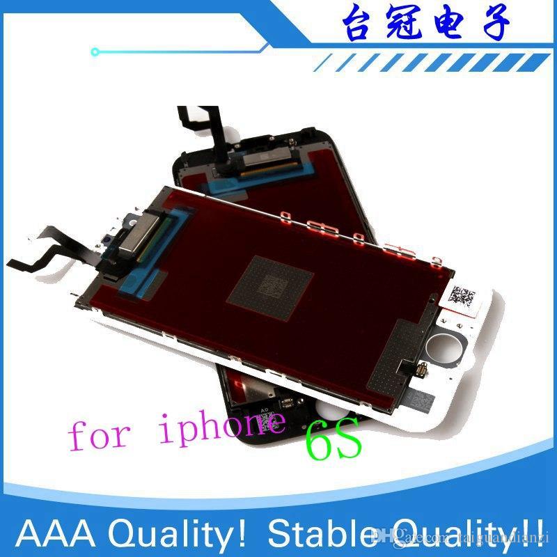 IPhone 6 6 S Için LCD Ile 3D Kuvvet Dokunmatik Ekran Digitizer Meclisi Ekran Hiçbir Ölü Piksel Ücretsiz Kargo