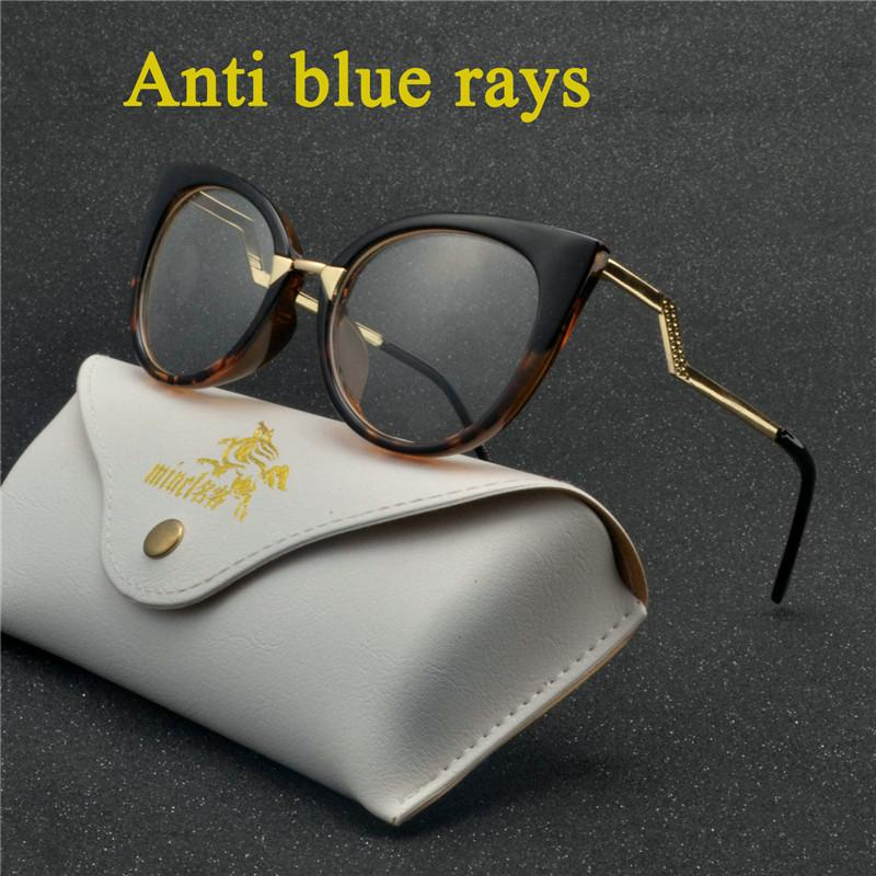 16643ed59d1 Retro Alloy Eyewear Frames Computer Glasses Women Men Anti Blue ...