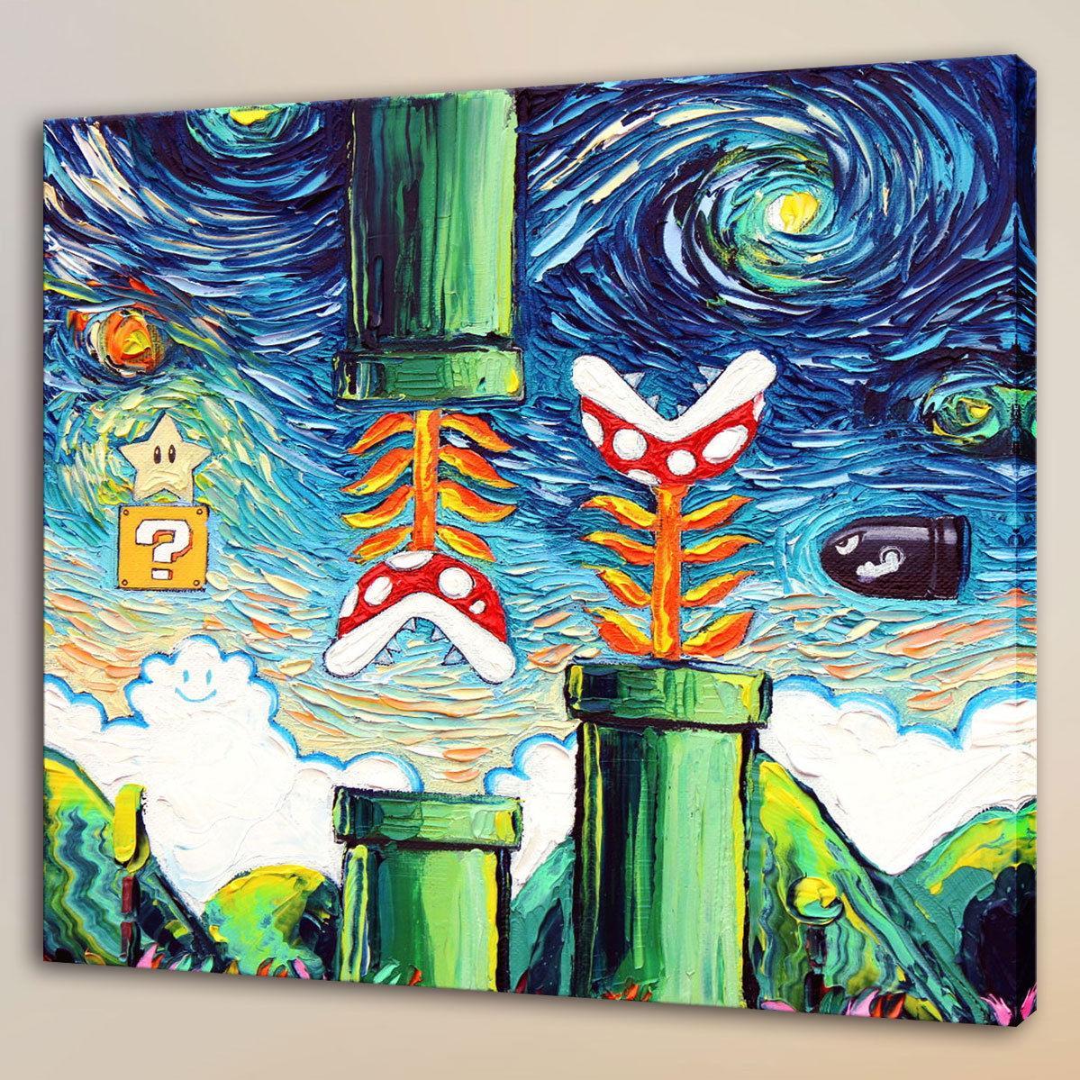 Satın Al Van Gogh Oyunu Yenilmez 1 Adet Tuval üzerine Shome Dekor