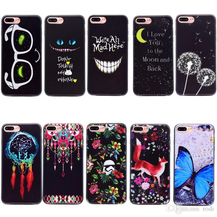 online store 8ffd4 3f9c5 Art Pattern Coating Slim-Fit Anti-Finger Print Flexible TPU Gel Case For  iPhone X 8/7 6S/6 Plus SE/5S/5 Galaxy S8 A520 J330 Back Cover Shell