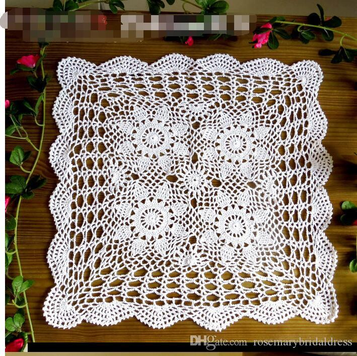 2018 Handmade Table Cover Vintage Style Chic Floral Crochet Pattern