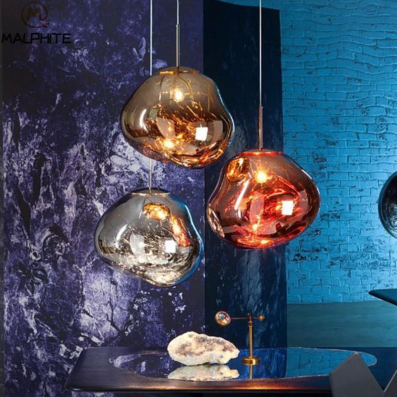 Tom Dixon Modern 5 Head Glass Lava Pendant Lights Lustre Led