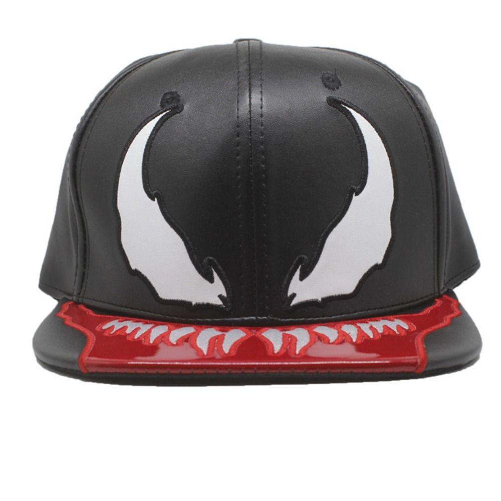 Marvel Venom Hats Fashion Personality Hip Hop Casquette De Baseball Black  Adjustable Cappelli Uomo In Pelle Berretto Superman Cap Hat Embroidery From  ... 432bfaa653e