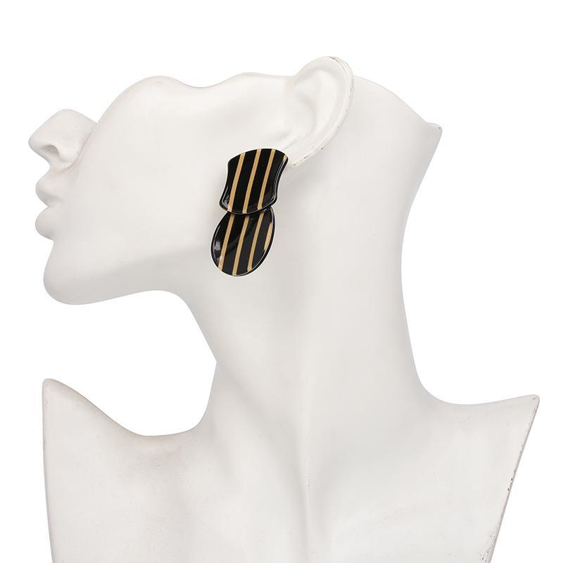 JURAN Mode Nouveau Design Pendentif Résine Drop Dangle Boucles D'oreilles Bijoux Déclaration Des Femmes Élégant Charme Boucles D'oreilles De Mariage Cadeau Bijoux