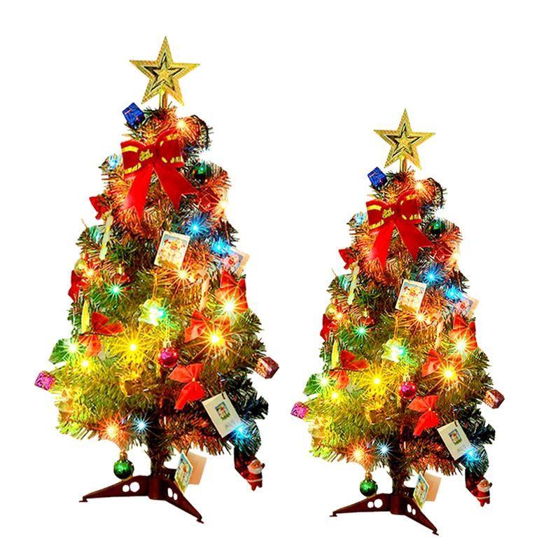 Led Christmas Tree Merry Christmas Small Glowing Xmas Tree