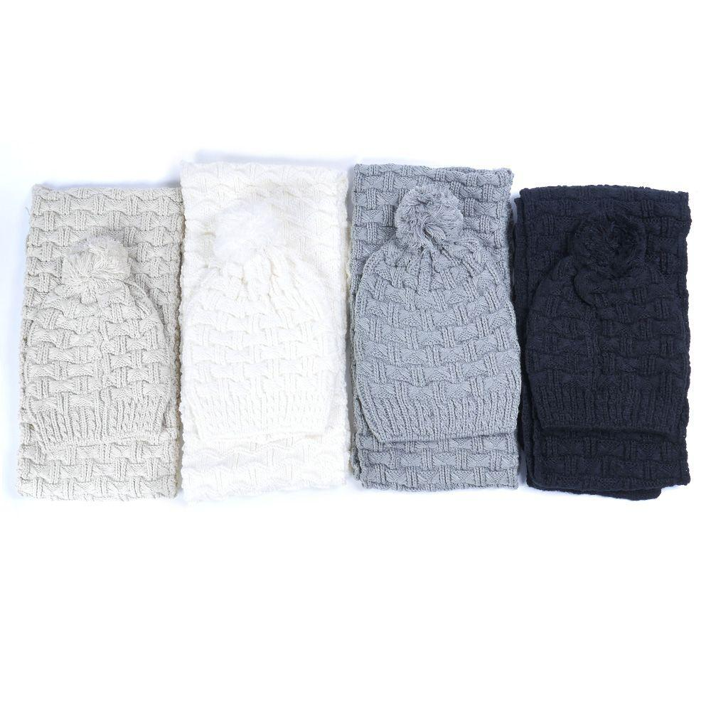 774584128ed New Women Winter Hats And Scarf Warm Scarves Fashion Women s Knitted ...