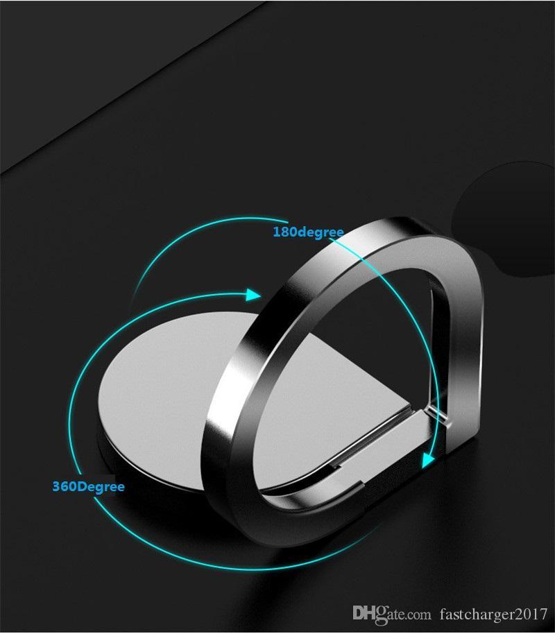 автомобильный держатель телефона держатель магнитный металлический палец кольцо подставка магнит держатель 360 вращающееся крепление мобильного телефона ручка капельного универсальный для смартфона