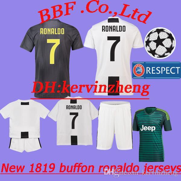 f069f0a38 2019 Thailand 18 19 Soccer Jerseys Goalkeeper Buffon Kids Kit SERIE A  Barzagli Ronaldo Jersey Manjucci Costa Have Player Version Football Shirts  From ...