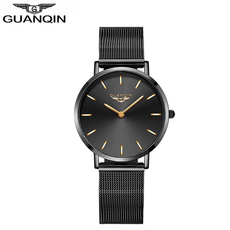 17d1fc7d796 Compre Guanqin Relógio Ultra Fino Mulheres De Luxo Novo Simples Senhoras  Casual Dress Relógios De Pulso De Couro Feminino À Prova D  água De  Dracaena