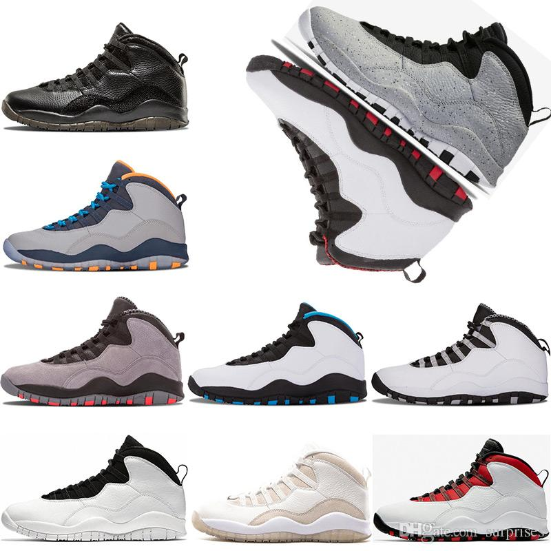 fbdbf9e5f00 Men Basketball Shoes 10 10s Cement Westbrook X I M Back Bobcats Chicago  Cool Grey Powder Blue Steel Grey Black White Sport Sneakers 41 47 Basket  Ball Shoes ...