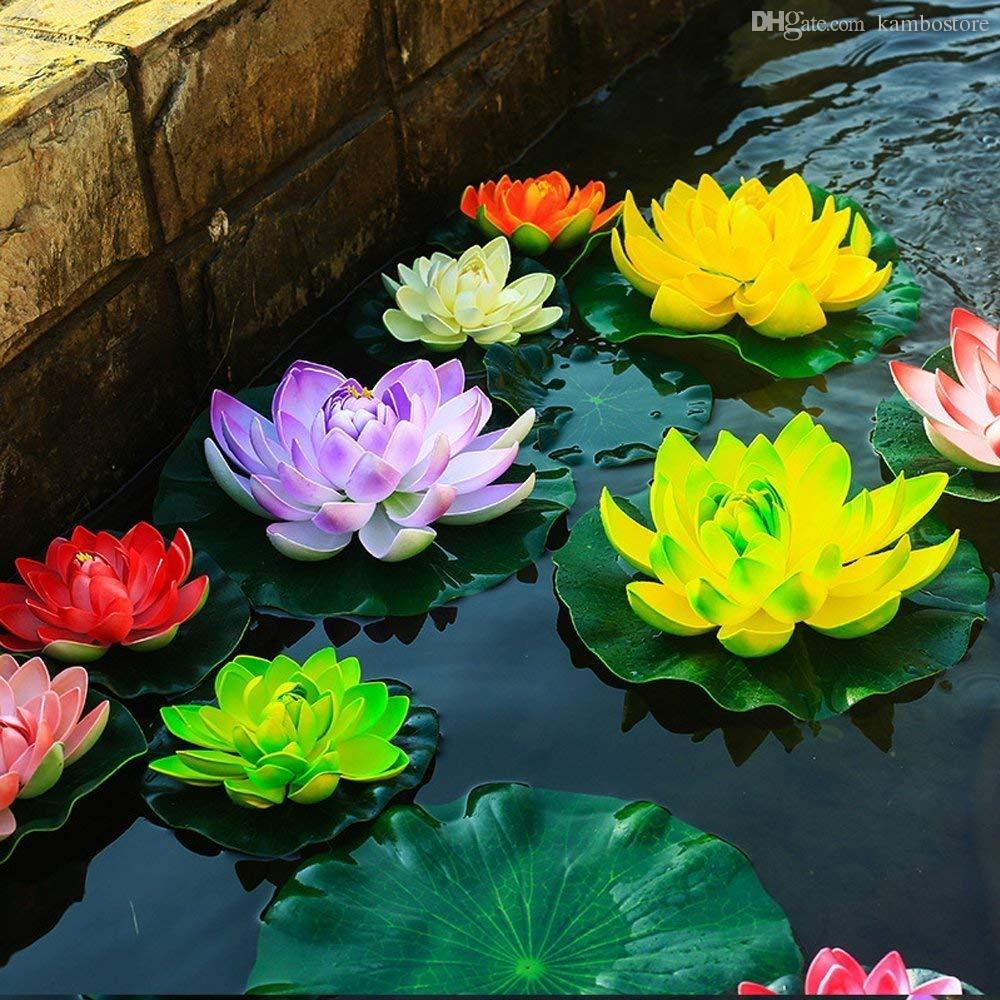 2019 10cm Real Touch Artificial Lotus Flower Foam Lotus Flowers