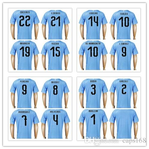 f2ef353a0 Top Thailand Quality 2018 World Cup Uruguay Football Jersey GODIN RODRIGUEZ  8 MAINDEZ 9 L.SUAREZ DE ARRASCAETA E.CAVANI Custom Soccer Shirt UK 2019  From ...
