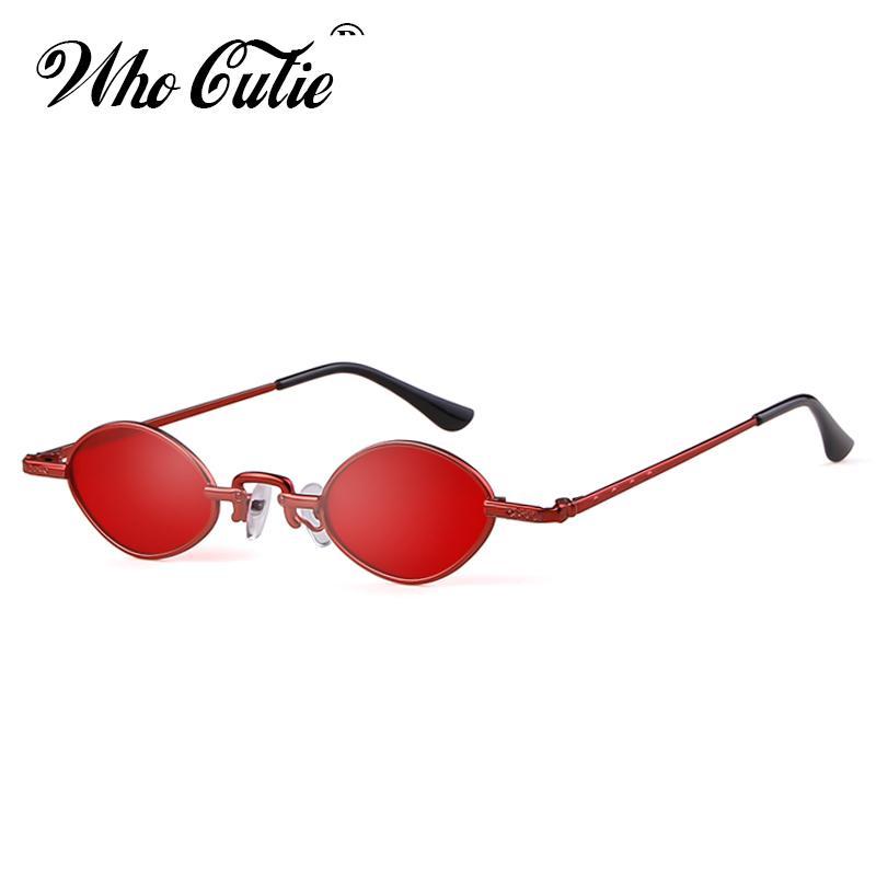Compre 2018 Retro 90S Gafas De Sol Delgadas Mujeres Diseñador De La Marca  Delgadas Minúsculo Marco Pequeño Oval Gafas De Sol Negro Rojo Rosa Sombras  OM732 A ... 8eb1069d0156
