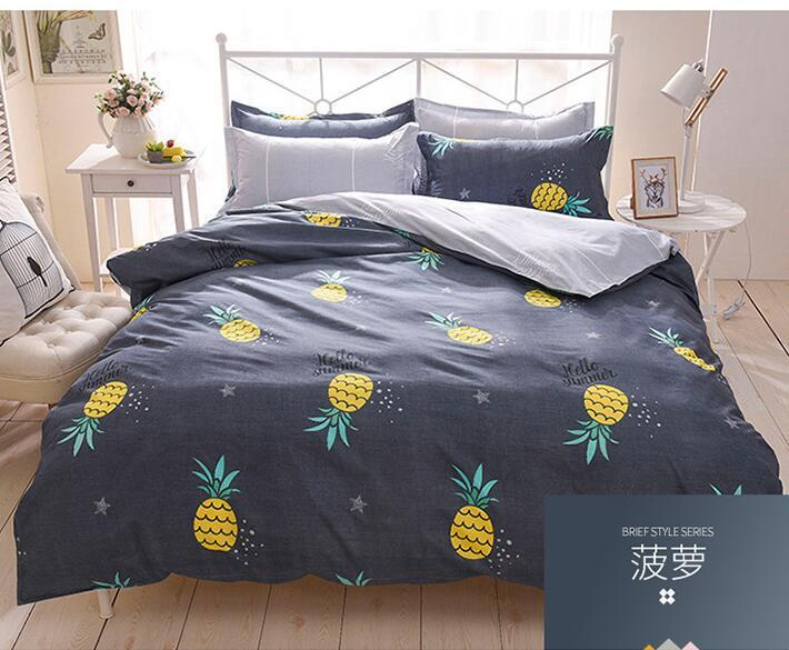 Home Decor 3D Pineapple Comforter Bedding Set Tropical Fruit Print Bedspreads Kids Bedclothes Duvet Cover Twin Full Queen King Blue Covers Best