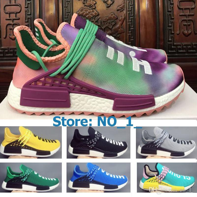 c67bf835f NMD Human Race Pharrell Williams Hu Trail NERD Men Womens Running ...