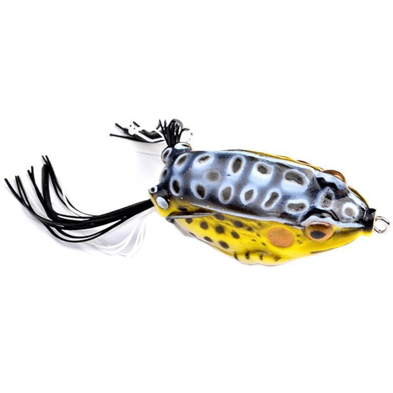Hot Soft Rubber Realista Ray rana cabeza de serpiente cebo 13.5 g 5.5 cm 3D Eyes popper Blackfish Crankbait Hooks