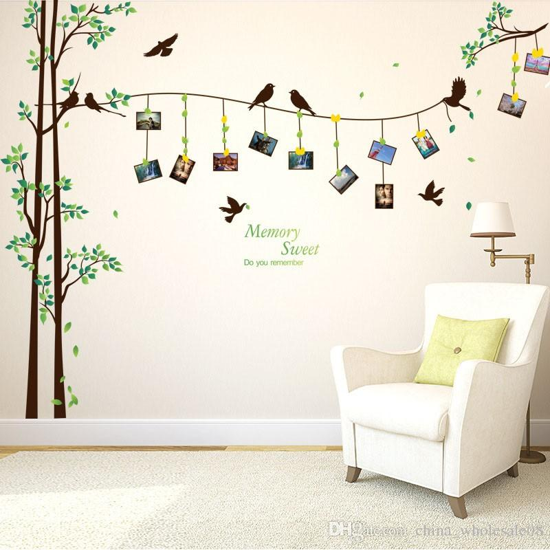 Large Photo Tree Wall Stickers Home Decor Living Room Bedroom 3d Wall Art  Decals Diy Family MuralsZI 320 Sticker Walls Stickers Decor From ...