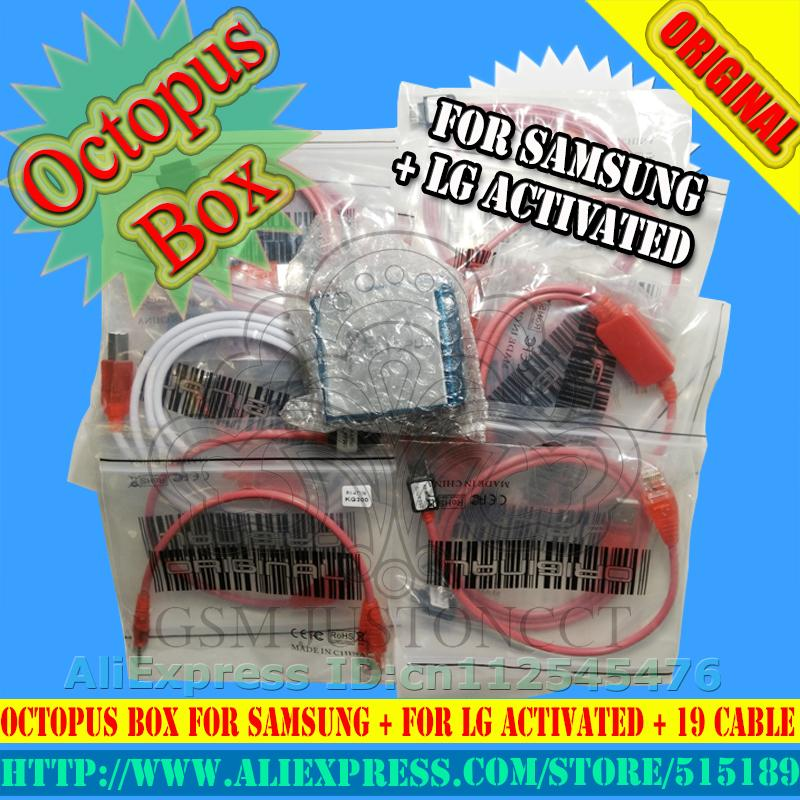 The Newest version Free Shipping 100% Original Octopus box for Sam&LG Full  with 19 cables With Optimus Cable