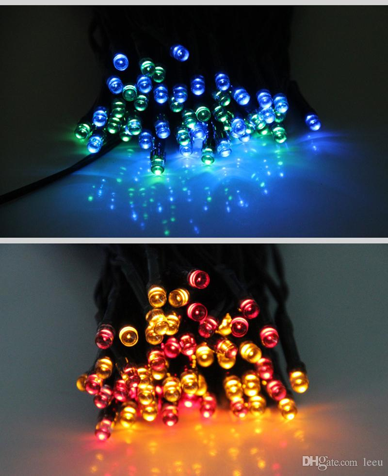 Solar Lamps LED String Lights 50/100/200 LEDS Fairy Holiday Christmas Party Garlands Solar Garden Lawn Outdoor Lights Waterproof