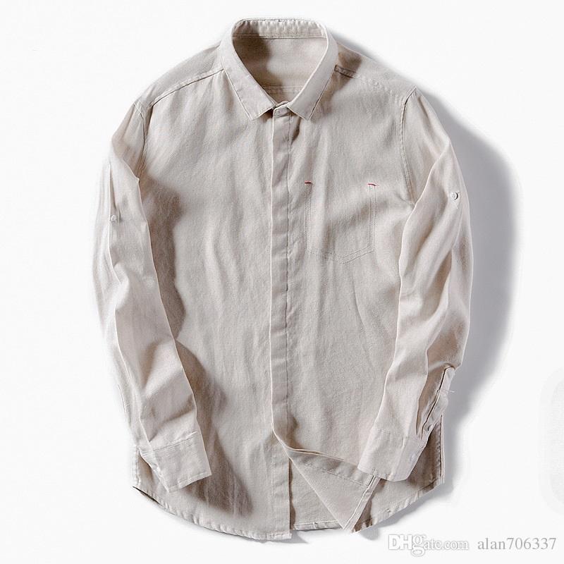 e18c0746973 2019 Cotton Linen Shirt Men New Turn Down Collar Casual Male Shirt Slim Fit Mens  Shirts Long Sleeve Camisa Hombre Dress Shirt TS 299 From Alan706337
