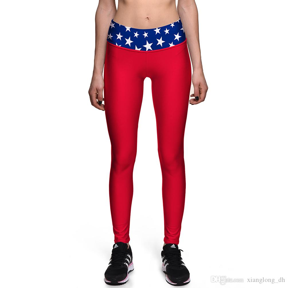 a64ebacc0ae 2019 Sexy Girl Slim Pant Women Leggings Plus Size Red Wonder Woman Star 3D  Prints High Waist Workout Fitness Leggings 0099 From Xianglong dh