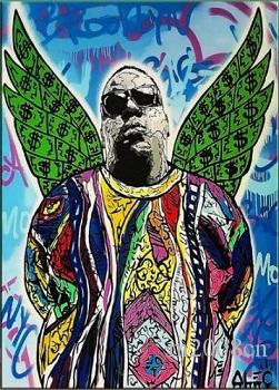 Alec Monopoly Handpainted /HD Print Graffiti Pop Art Oil Painting Notorious BIG,on Canvas office culture Multi Sizes/frame Options g28