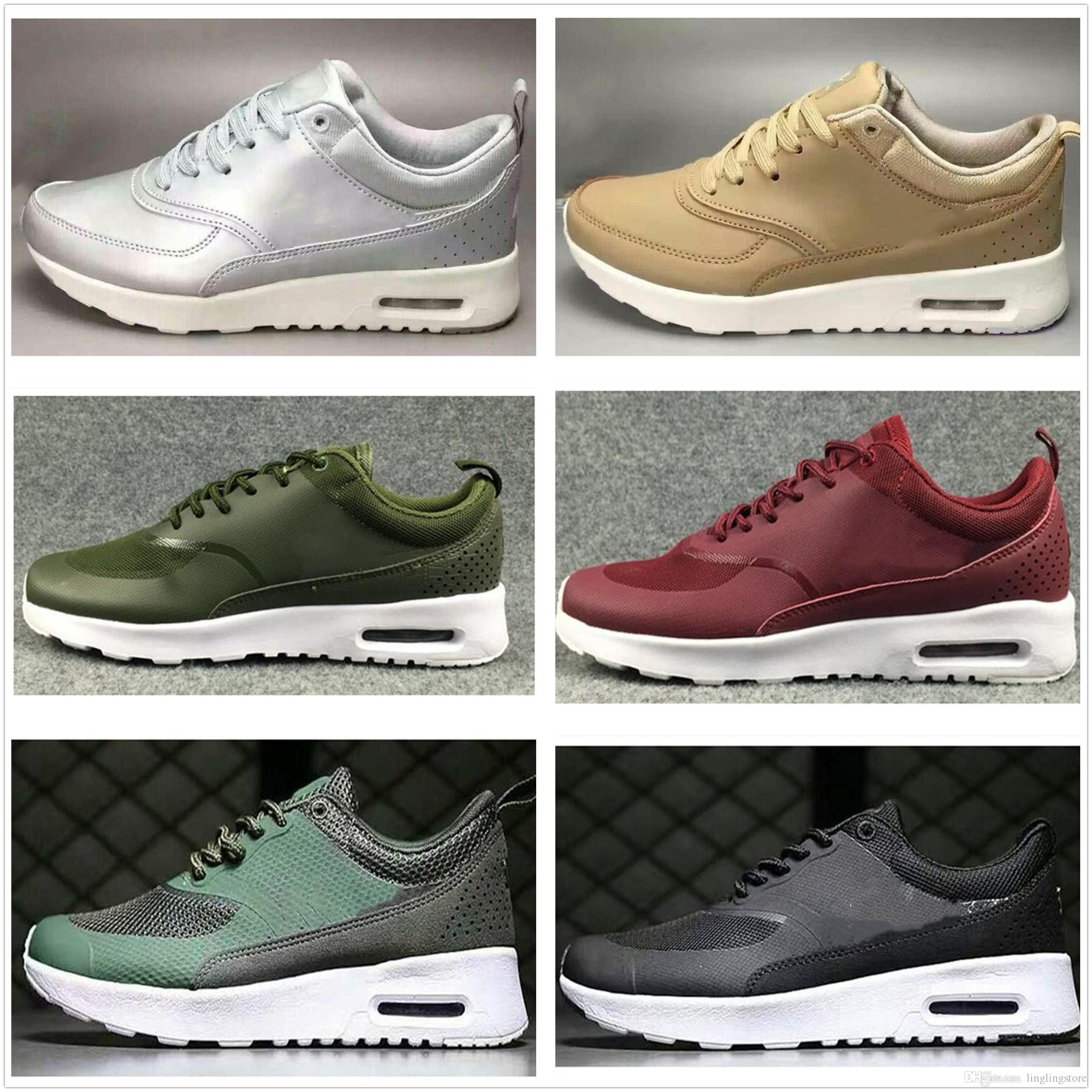 0fe468bb79d33 Großhandel Nike Air Max Airmax 87 2018 Billig Heißer Verkauf Tavas Se 87  Thea Print Männer Schuhe Stiefel Billig Klassisch 90 Camouflage Frauen ...