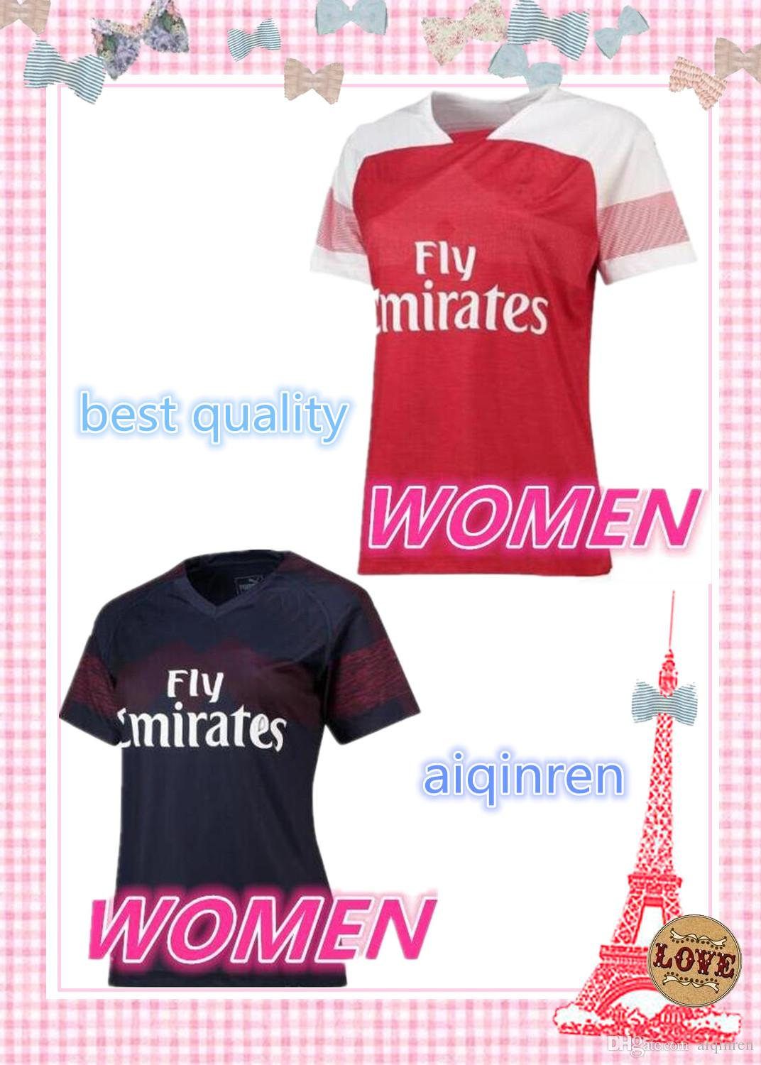 a1afcd657 Women Arsenal 2018 Home Soccer Jersey 2019 Arsenales OZIL LACAZETTE ...
