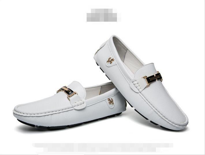 Deri Erkekler Rahat Ayakkabılar Yürüyüş Konfor Parti Ayakkabı Erkekler Ofis Moda Slip-On Düğün Oxfords Elbise Iş boyutu 38-44 a31