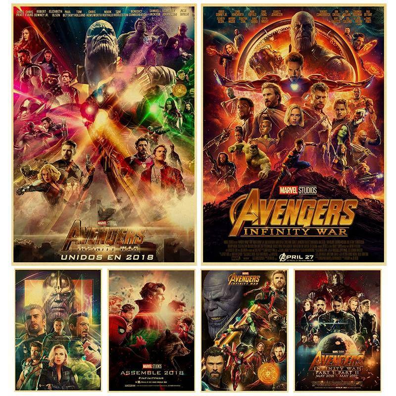 Infinity War POSTER kraft paper high quality print art painting superhero  home decor wall sticker